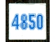 Part No: 3068bpb0874  Name: Tile 2 x 2 with Blue '4850' Pattern (Sticker) - Set 4850