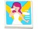 Part No: 3068bpb0918  Name: Tile 2 x 2 with Female Singer in Spotlights Pattern (Sticker) - Set 41093