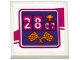 Part No: 3068bpb0977  Name: Tile 2 x 2 with '2807' (28:07), Trophy and Checkered Flags Pattern (Sticker) - Set 41122