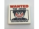 Part No: 3068bpb1044  Name: Tile 2 x 2 with 'WANTED THE JOKER' Poster Pattern