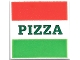 Part No: 3068bpb1045  Name: Tile 2 x 2 with Red and Green Stripes and Dark Green 'PIZZA' Pattern (Pizza Box)