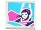 Part No: 3068bpb1047  Name: Tile 2 x 2 with Female Friends Minifigure With Raised Arms Pattern (Sticker) - Set 41128