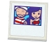 Part No: 3068bpb1050  Name: Tile 2 x 2 with Groove with Sailor and Friends Female Photograph Pattern (Sticker) - Set 41129