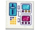 Part No: 3068bpb1057  Name: Tile 2 x 2 with Bumper Cars on Screen, Lever, Switches and Buttons Pattern (Sticker) - Set 41133