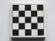 Part No: 3068bpb1071  Name: Tile 2 x 2 with Checkered Pattern with Thin Black Border (Sticker) - Set 75913