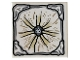 Part No: 3068bpb1097  Name: Tile 2 x 2 with Gray Stone Center and Edges and Tan and Brown Lines Radiating from Center Pattern (Aquaman Mother Box Top)