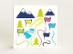 Part No: 3068bpb1112  Name: Tile 2 x 2 with Map of Ski Resort with Flags, Trees and Mountains Pattern