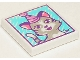 Part No: 3068bpb1146  Name: Tile 2 x 2 with Groove with Cat Wearing Party Hat Painting Pattern