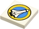 Part No: 3068px27  Name: Tile 2 x 2 with Space Port Logo, Shuttle and Yellow Circle Pattern
