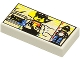 Part No: 3069bpx22  Name: Tile 1 x 2 with Minifig and Pyramids Pattern