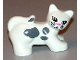 Part No: 31102pb03  Name: Duplo Cat with Almond Eyes, Whiskers, Pink Nose, and Gray Spots Pattern