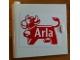 Part No: 3195pb05  Name: Door 1 x 5 x 4 Left with Arla Dairy Logo Pattern (Sticker) - Set 1581-2