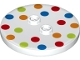 Part No: 32627pb01  Name: Tile, Round 4 x 4 with 2 Hollow Studs with Polka Dot Pattern - set 70917
