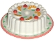 Part No: 33013pb01  Name: Cake with Red Cherries and Oranges Pattern