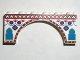 Part No: 3307px1  Name: Brick, Arch 1 x 6 x 2 with Indian Pattern