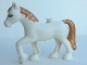 Part No: 3426pb01  Name: Duplo Horse with one Stud and Raised Hoof with Eyelashes and Gold Mane and Tail Pattern