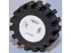Part No: 34337c02  Name: Wheel 8mm D. x 6mm with Slot with Black Tire 15mm D. x 6mm Offset Tread Small - Band Around Center of Tread (34337 / 87414)