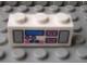 Part No: 3622pb029  Name: Brick 1 x 3 with Radio and Dual Cassette Pattern Dark Pink/Blue (Sticker) - Set 5848