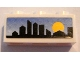 Part No: 3622pb033  Name: Brick 1 x 3 with Skyline and Sunset on Blue Background Pattern (Sticker) - Set 8404