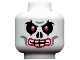 Part No: 3626bpb0525  Name: Minifigure, Head Skull Evil with Red Eyes and Red Lips Pattern - Blocked Open Stud
