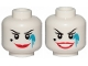 Part No: 3626cpb2334  Name: Minifigure, Head Dual Sided Female Red Lips, Heart Shaped Beauty Mark, Dark Azure Paint Splotch, Smile / Open Mouth Smiile Pattern - Hollow Stud