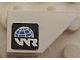 Part No: 3665pb004L  Name: Slope, Inverted 45 2 x 1 with World Racers Logo on Black Background Pattern Model Left (Sticker)