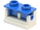 Part No: 3937c03  Name: Hinge Brick 1 x 2 Complete Assembly with Blue Top Plate