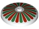 Part No: 3960p01  Name: Dish 4 x 4 Inverted (Radar) with Stripes Red/Green Petals Pattern