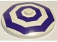 Part No: 3960pb020  Name: Dish 4 x 4 Inverted (Radar) with Solid Stud with 2 Dark Purple Octagons Pattern