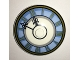 Part No: 3960pb037  Name: Dish 4 x 4 Inverted (Radar) with Clock Face Light Blue with Roman Numerals Pattern