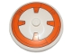 Part No: 3960pb052  Name: Dish 4 x 4 Inverted (Radar) with Solid Stud with BB-8 Droid Pattern