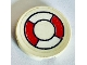 Part No: 4150p07  Name: Tile, Round 2 x 2 with Red and White Life Preserver Pattern (Sticker)