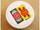 Part No: 4150pb071  Name: Tile, Round 2 x 2 with Tomato, Cheese and Cucumber Pattern (Sticker)