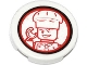 Part No: 4150pb150  Name: Tile, Round 2 x 2 with Chef Winking Pattern (Sticker) - Set 79104