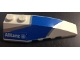 Part No: 41747pb060  Name: Wedge 6 x 2 Right with Blue and Silver Wraparound Pattern, with Allianz Logo Pattern (Sticker) - Set 8374