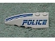 Part No: 41748pb017  Name: Wedge 6 x 2 Left with Police Blue Line Pattern