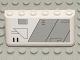 Part No: 4176pb18  Name: Windscreen 2 x 6 x 2 with SW Gunship Panel Pattern Lower Right (Sticker) - Set 7163