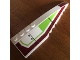 Part No: 42060pb20  Name: Wedge 12 x 3 Right with Dark Red and Lime Pattern (Stickers) - Set 7679