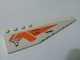 Part No: 42060pb28  Name: Wedge 12 x 3 Right with '7692', Hatch, Bulls Head and Orange Stripes Pattern (Sticker) - Set 7692
