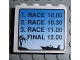 Part No: 4215pb042  Name: Panel 1 x 4 x 3 with Schedule for Boat Race Pattern (Sticker) - Set 6543
