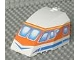 Part No: 42602pb05  Name: Windscreen 8 x 6 x 4 Canopy with Hinge and Airliner Cockpit Blue/Orange Pattern