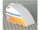 Part No: 42602px02  Name: Windscreen 8 x 6 x 4 Canopy with Hinge and Airliner Aft Blue/Orange Pattern