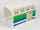 Part No: 42604pb001  Name: Aircraft Fuselage Angular Top 6 x 8 x 4 with Door on Blue, Green, and Yellow Stripes Pattern