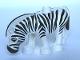 Part No: 4415c01pb01  Name: Duplo Zebra, Ridged Mane with Black Ends