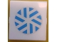 Part No: 4448pb06  Name: Glass for Window 4 x 4 x 3 Roof with Blue and White Arctic Snowflake Pattern (Sticker) - Set 8680