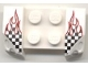 Part No: 44674pb04  Name: Vehicle, Mudguard 2 x 4 with Headlights Overhang with Checkered Flame Pattern on Both Sides (Stickers) - Set 8121