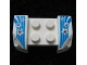Part No: 44674pb25  Name: Vehicle, Mudguard 2 x 4 with Headlights Overhang with Red Stars Pattern on Both Sides (Stickers) - Set 9094