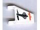 Part No: 44676pb008  Name: Flag 2 x 2 Trapezoid with Orange Line and Black Cobra Pattern (Sticker) - Set 7647