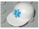 Part No: 4485pb02  Name: Minifigure, Headgear Cap - Long Flat Bill with Blue EMT Star of Life Pattern