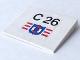 Part No: 4515pb002  Name: Slope 10 6 x 8 with 'C 26' & Coast Guard Logo Pattern (Sticker) - Set 4022